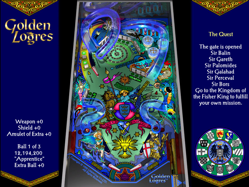 Wing Gold >> Golden Logres Game Screen #1 - LittleWing PINBALL